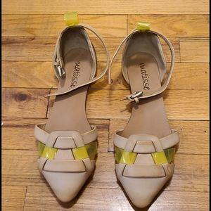 Matisse Tan/ Neon Yellow Sandals